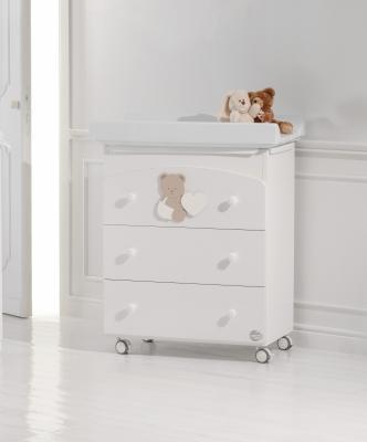 Пеленальный комод с ванночкой Baby Expert Balu (белый/бледно-коричневый) кровать baby expert кровать baby expert romantico античный белый