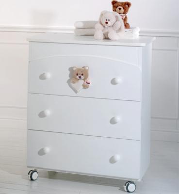 Пеленальный комод с ванночкой Baby Expert Tenerone by Trudi (белый) кровать baby expert кровать baby expert abbracci by trudi крем