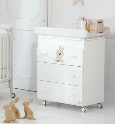 Пеленальный комод с ванночкой Baby Expert Trotto&Lina (белый) кровать baby expert кровать baby expert abbracci by trudi крем