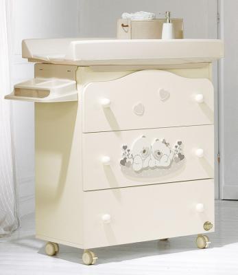 Пеленальный комод с ванночкой Baby Expert Sogno (кремовый) кровать baby expert кровать baby expert abbracci by trudi крем