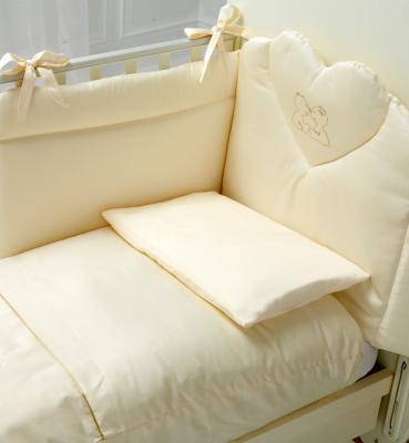 Постельный сет 4 предмета Baby Expert Cuore di Mamma (крем/золото) постельный сет 4 предмета baby expert cuore di mamma крем золото