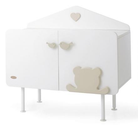 Комод бельевой Baby Expert Casetta (белый/крем) кровать baby expert кровать baby expert abbracci by trudi крем