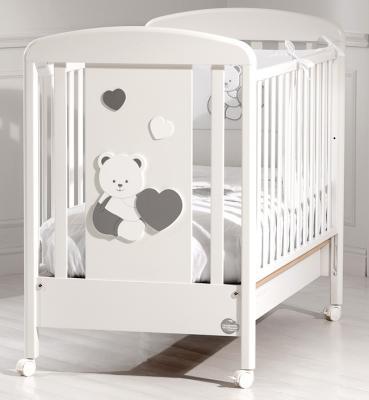 Детская кровать Balu, белый/серебро