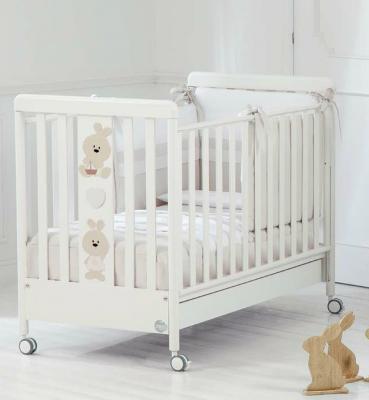 Кроватка Baby Expert Trotto&Lina (белый)