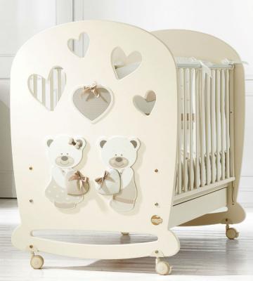 Купить Кроватка-качалка Baby Expert Bon Bon (кремовый), массив бука / ДСП, Кроватки без укачивания