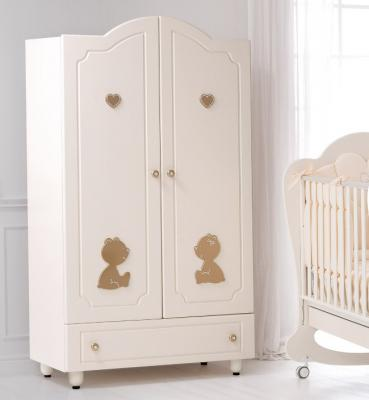 Шкаф двустворчатый Baby Expert Cuore di Mamma (крем/золото) кровать baby expert кровать baby expert abbracci by trudi крем