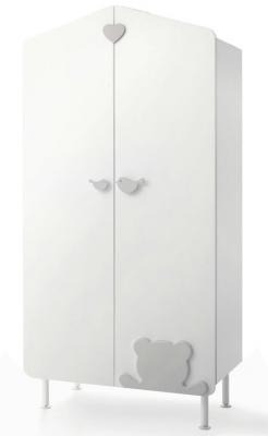 Шкаф двустворчатый Baby Expert Casetta (белый/крем) цена