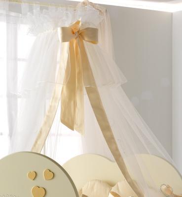 Балдахин Baby Expert Cuore di Mamma (крем/золото) постельный сет 4 предмета baby expert cuore di mamma крем золото