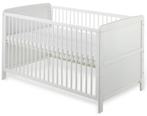 Купить Кроватка Geuther Pascal (белый), массив бука / МДФ, Кроватки без укачивания