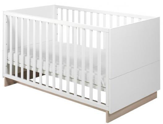 Купить Кроватка Geuther United (белый дуб), массив бука / ДСП / МДФ, Кроватки без укачивания