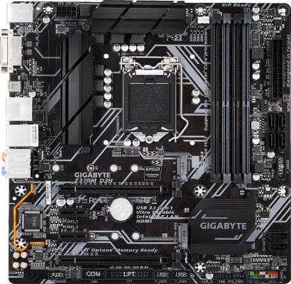 Материнская плата GigaByte Z370M D3H Socket 1151 v2 Z370 4xDDR4 2xPCI-E 16x 2xPCI-E 1x 6 mATX Retail мат плата для пк asus e3 pro gaming v5 socket 1151 c232 4xddr4 2xpci e 16x 2xpci 2xpci e 1x 6xsataiii atx retail