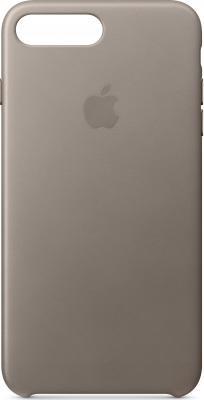 Накладка Apple Leather Case для iPhone 7 Plus iPhone 8 Plus платиново-серый MQHJ2ZM/A mercury goospery milano diary wallet leather mobile case for iphone 7 plus 5 5 grey
