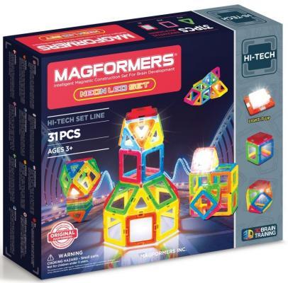 Магнитный конструктор Magformers Neon Led set 31 элемент 709007 от 123.ru