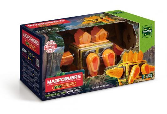 Купить Магнитный конструктор MAGFORMERS 716001 Dino Tego set, Магнитные конструкторы для детей