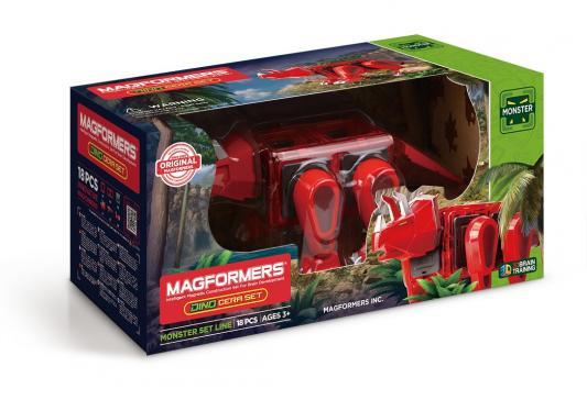 Купить Магнитный конструктор Magformers Dino Cera set 18 элементов 716002, Магнитные конструкторы для детей