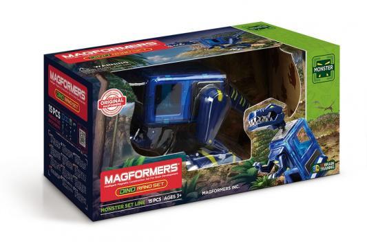 Купить Магнитный конструктор Magformers Dino Rano set 15 элементов 716003, Магнитные конструкторы для детей