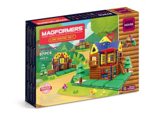 Купить Магнитный конструктор Magformers Log House Set 87 элементов 705004, Магнитные конструкторы для детей