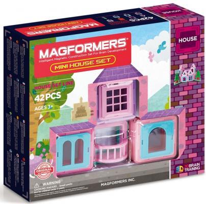 Купить Магнитный конструктор Magformers Mini House Set 42 элемента 705005, Магнитные конструкторы для детей