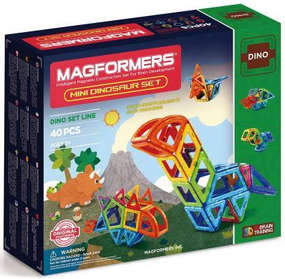 Магнитный конструктор Magformers Mini Dinosaur set 40 элементов 708003 magformers магнитный конструктор mini dinosaur set
