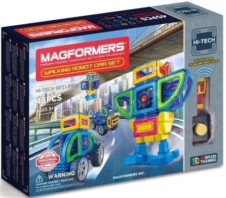 Магнитный конструктор Magformers Walking Robot Car Set 45 элементов 709008
