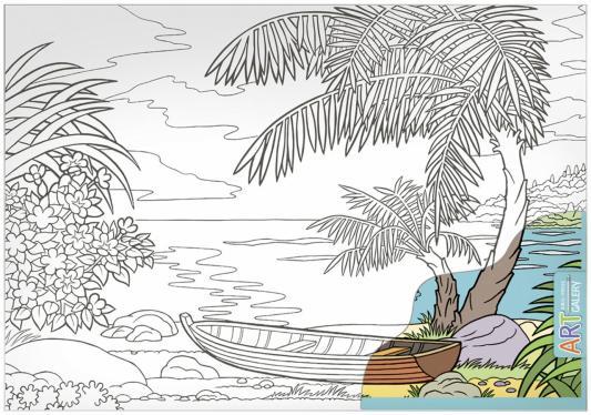 Набор для творчества АЙРИС-ПРЕСС 65640 АРТ.Морской пейзаж (большой). айрис пресс игры с прищепками раскраски и головоломки