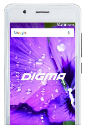 "Смартфон Digma LINX A450 3G white 4.5"" TN/2.5D/540x960/4x1.3GHz/0.5+4Gb/3G/2Sim/2+0.3Mp/1800mAh/And6."