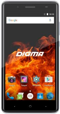 Смартфон Digma VOX FIRE 4G grey 5 IPS/2.5D/720x1280/4x1.3GHz/1+8Gb/LTE/2Sim/8+8Mp/2300mAh/And7. смартфон 5 digma vox s505