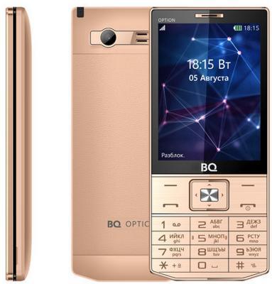 Мобильный телефон BQ BQ-3201 Option золотистый BQM-3201-GLD цена
