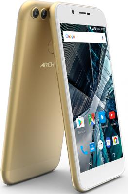 Смартфон ARCHOS Sense 50 DC золотистый 5 16 Гб LTE Wi-Fi GPS 3G 503525 смартфон archos core 50p черный 5 16 гб lte wi fi gps 3g 503417