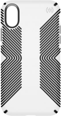 Накладка Speck Presidio Grip для iPhone X белый чёрный 103131-1909