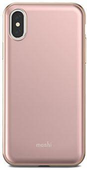 Чехол Moshi iGlaze для iPhone X. Сделан из ударопрочного пластика. Цвет: розовый. все цены