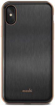 Чехол Moshi iGlaze для iPhone X. Сделан из ударопрочного пластика. Цвет: черный. стоимость