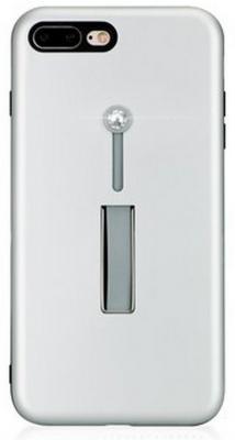 Чехол Bling My Thing для iPhone 8 Plus\\7 Plus, с кристаллами Swarovski. Коллекция SelfieLOOP. Цвет серебряный. Материал пластик. стоимость