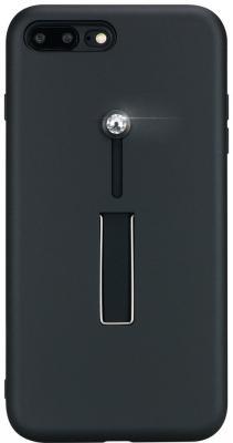 цена на Накладка Bling My Thing SelfieLOOP, с кристаллами Swarovski для iPhone 7 Plus iPhone 8 Plus чёрный ip8-l-lp-bk-cry