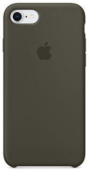 Силиконовый чехол Apple Silicone Case для iPhone 8/7, цвет (Dark Olive) тёмно-оливковый чехол apple silicone case для iphone 7