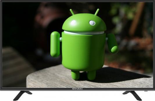 Телевизор 43 SHIVAKI STV-43LED18S черный 1920x1080 Wi-Fi Smart TV RJ-45 140f1142 devireg smart интеллектуальный с wi fi бежевый 16 а