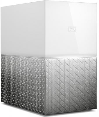 Сетевое хранилище Western Digital My Cloud Home Duo 2x3,5 WDBMUT0040JWT-EESN сетевое хранилище western digital my cloud home 4tb wdbvxc0040hwt eesn