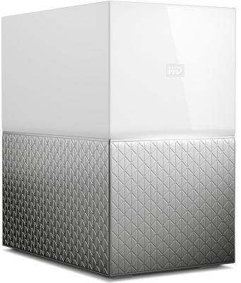 Сетевое хранилище Western Digital My Cloud Home Duo 2x3,5 WDBMUT0120JWT-EESN сетевое хранилище western digital my cloud home 4tb wdbvxc0040hwt eesn