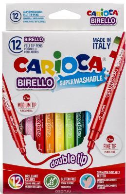 Набор фломастеров BIRELLO двусторонних, 12 цв., в картонном конверте brauberg набор фломастеров двусторонних 10 цветов