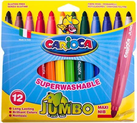 Набор фломастеров CARIOCA JUMBO, 12 цв., в картонном конверте с европодвесом carioca набор фломастеров jumbo 40 цветов