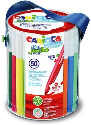Набор фломастеров CARIOCA JUMBO, 50 шт., в пластиковом ведерке carioca набор фломастеров jumbo 40 цветов