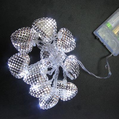 Гирлянда LED СЕРДЕЧКИ на батарейках, 1 м, 10 ламп, для помещений
