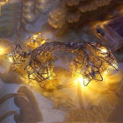 Гирлянда электрическая LED ЗВЕЗДЫ на батарейках, 90 см, 10 ламп N11267