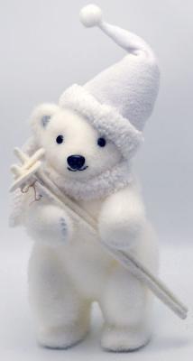 Украшение Winter Wings Мишка в шапке белый 25 см 1 шт полимер украшение winter wings мишка с шишками белый 17 см 1 шт полимер n069814
