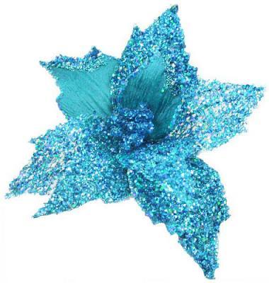 Украшение Winter Wings Цветок бирюзовый 22 см 1 шт полиэстер украшение winter wings цветок полоска фиолетовый 16 см 1 шт n069868 ф