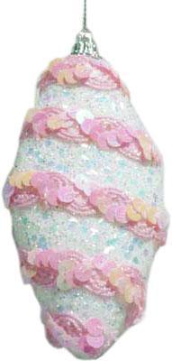 Купить Елочные украшения Winter Wings Щербет N069952 8 см 2 шт пластик, разноцветный