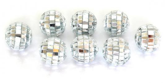 Елочные украшения Winter Wings Шары Зеркальные серебро 2 см 20 шт пластик N181080