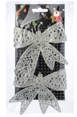 Елочные украшения Winter Wings Бантики белый 12*20 см. 2 шт пластик