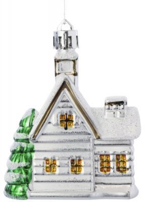 Елочные украшения Winter Wings Домик белый 7 см 4 шт елочные украшения русские подарки игрушка ёлочная домик