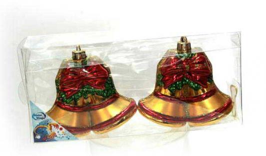 Елочные украшения Winter Wings Колокольчики золотой 11 см 2 шт пластик набор новогодних подвесных украшений winter wings колокольчики цвет красный 2 шт